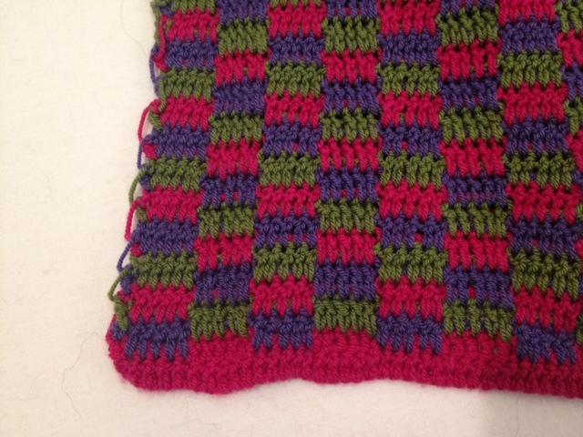 3色で編むミニショール